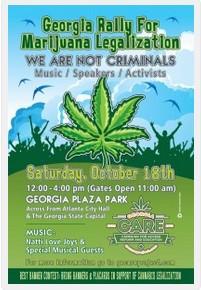 Georgia Rally for Marijuana Legalization Oct 18 Atlanta